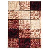 Alfombra de cuadros, alfombra moderna, alfombra geométrica para comedor. Tamaño: 300 x 400 cm