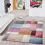 T&T Design Alfombra De Cuadros Multicolor De Pelo Corto Modelo De Diseño Al Mejor Precio, Größe:120x170 cm