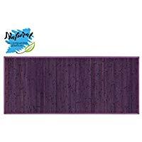Alfombra DE Bambú para EL Pasillo, EN Color Violeta. Alfombra para el RECIBIDOR. 75 x 175 CM