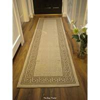 Alfombra de pasillo beige. Alfombra de pasillo clásica. Tamaño: 60 x 230 cm