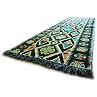 Alfombra Oriental de pasillo. Carpet. Tamaño: 200 x 70 cm