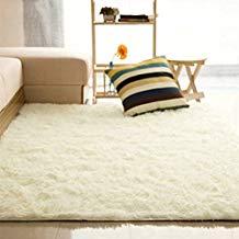 Alfombra suave rectangular y antideslizante para la habitación