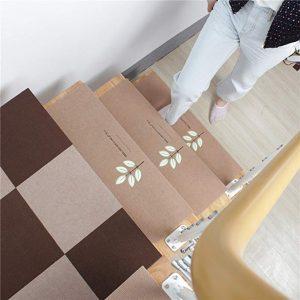 15 Juego de alfombras de escalera. Alfombras antideslizantes. Alfombrillas luminosas. Alfombra de paso. Alfombra antideslizante para escaleras Beige. Tamaño: 20 x 70 cm