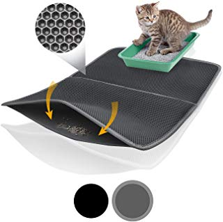 Alfombrilla gato diseño panal