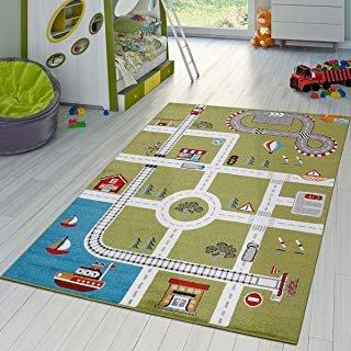 Alfombra diseño de ciudad para juegos infantiles